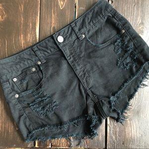 American Eagle Distressed Denim Cut Off Shorts